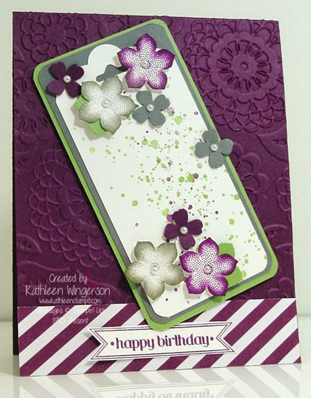 Petite Petals And Gorgeous Grunge Birthday Card Stampin Up