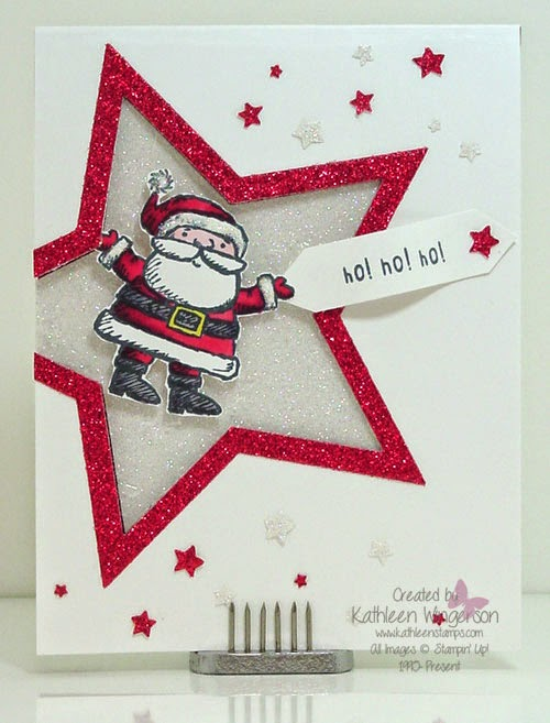 Get your santa on christmas card stampin 39 up for Santa cards pinterest