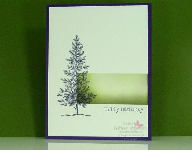 Its Masculine Monday Lovely As A Tree Birthday Card Stampin Up