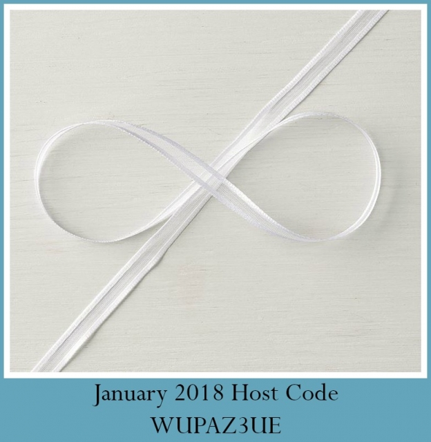 January 2018 Gift with Host Code purchase  by Kathleen Wingerson  www.kathleenstamps.com