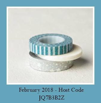 February 2018 Host Code JQ7B3B2Z offered by Kathleen Wingerson www.kathleenstamps.com