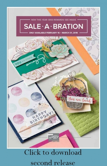 2018 Sale-a-Bration 2nd release catalog  #saleabration  #stampinup #SU