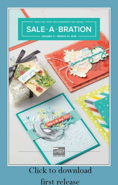 2018 Sale-a-Bration Catalog  #saleabration #stampinup