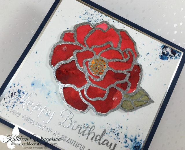Beautiful Day stamp set showcasing Brusho Crystal Colour from Stampin' Up! by Kathleen Wingerson www.kathleenstamps.com #beautifulday #brusho #brushocrystalcolour #SU #kathleenstamps #kathleenwingerson #watercolorwithbrusho #happybirthdaycard