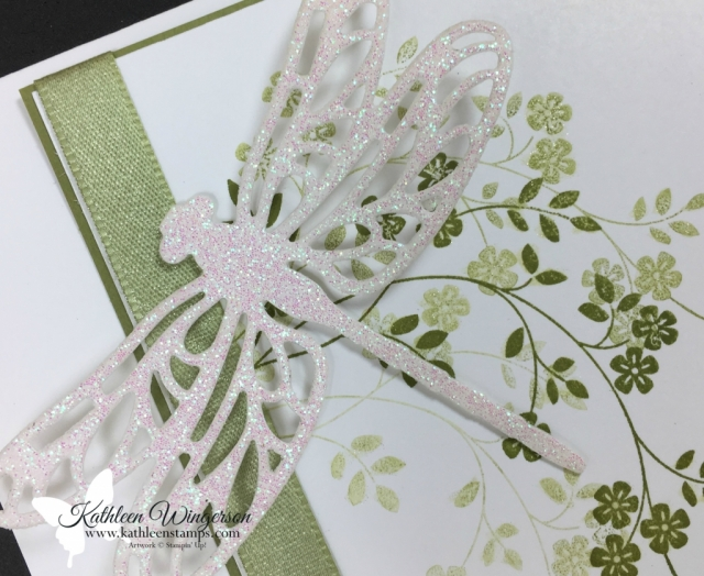 Sympathy Card showcasing Thoughts & Prayers stamp set and Detailed Dragonfly Thinlits Dies from Stampin' Up! by Kathleen Wingerson   www.kathleenstamps.com  #stampinup #kathleenstamps #kathleenwingerson #sympathycard #detaileddragonflythinlits