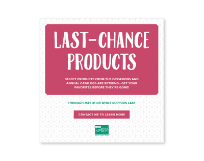 Last-Chance Products www.kathleenstamps.com