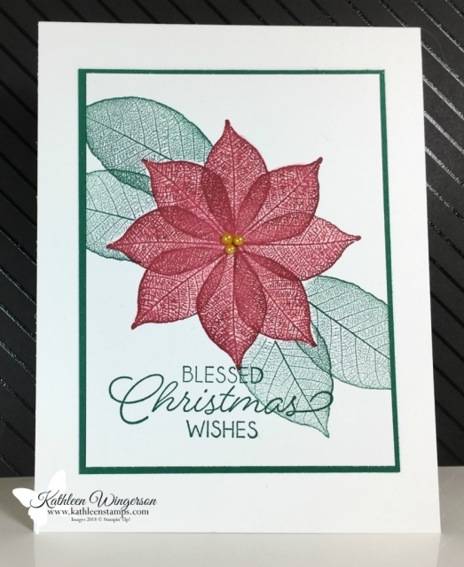 Christmas card showcasing Rooted in Nature stamp set from Stampin' Up! by Kathleen Wingerson  www.kathleenstamps.com #kathleenwingerson #kathleenstamps.com #stampinup #rootedinnature #kathleenstamps #christmascard