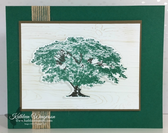 Masculine card showcasing Rooted in Nature stamp set and Nature's Roots framelits from Stampin' Up! by Kathleen Wingerson  www.kathleenstamps.com  #kathleenwingerson #www.kathleenstamps.com #SU #Stampin'Up! #RootedinNature #NaturesRoots #kathleenstamps #masculinecard