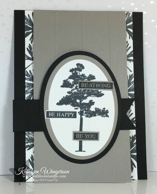 Fun Masculine Flip Card showcasing Rooted in Nature Stamp set and Layering Ovals Framelits from Stampin' Up! by Kathleen Wingerson  www.kathleenstamps.com