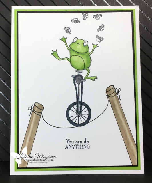 Encouragement card showcasing the Sale-a-Bration So Hoppy Together stamp set from Stampin' Up! by Kathleen Wingerson  www.kathleenstamps.com  #SU #kathleenstamps #KathleenWingerson #sale-a-bration #encouragementcard